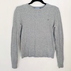 Izod Gray Ribbed Sweater EUC